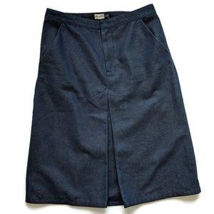Gap A-line Jean Denim Skirt Dark 4